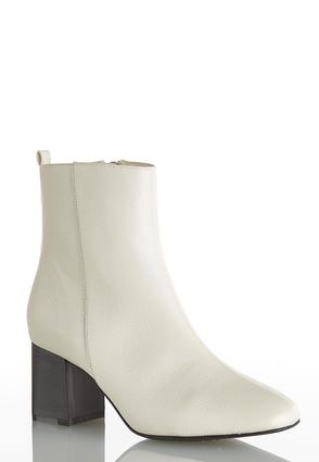 Seamed Block Heel Ankle Boots