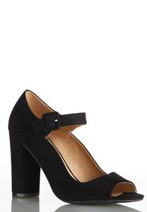 Peep Toe Mary Jane Pumps