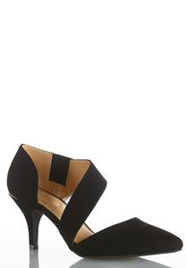 Asymmetric Suede Pumps