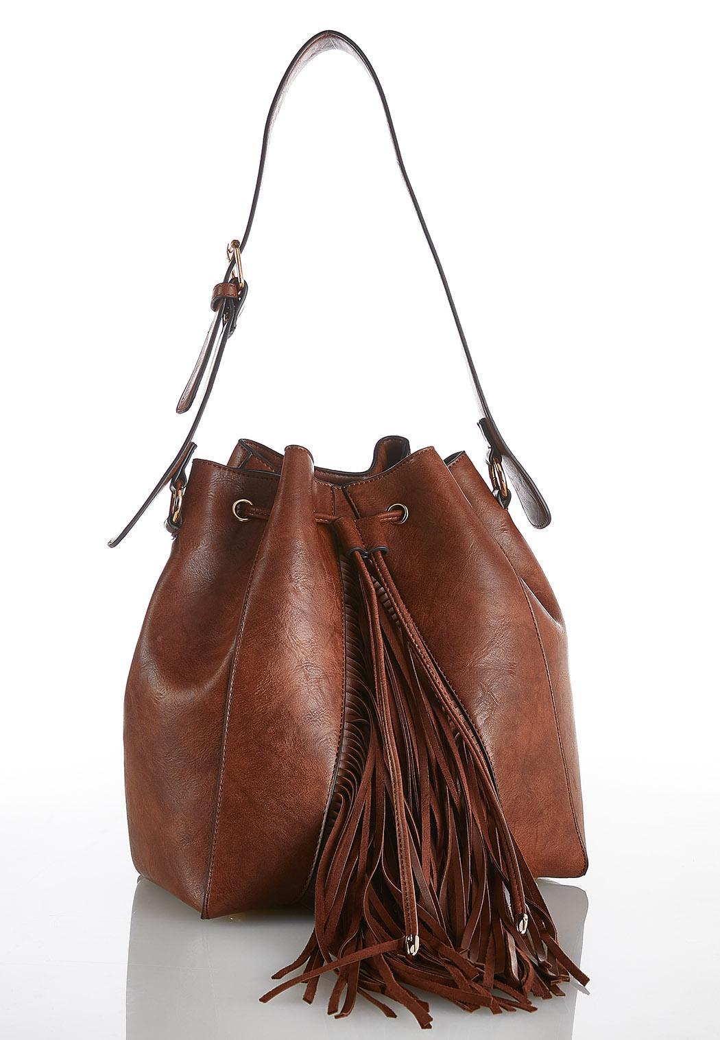 79fc58a66af3 Western Fringe Bucket Bag