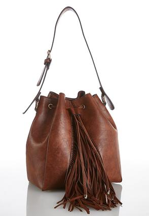 Western Fringe Bucket Bag