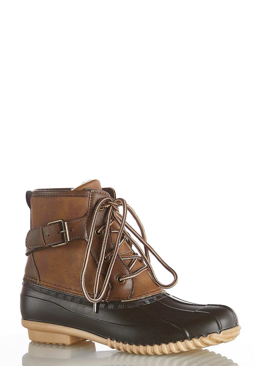 Buckle Side Duck Boots
