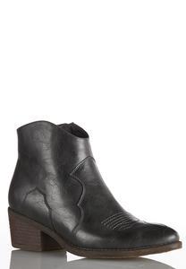 Gray Stitch Western Boots