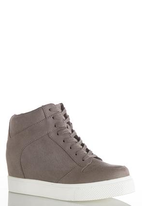 High- Top Wedge Sneakers