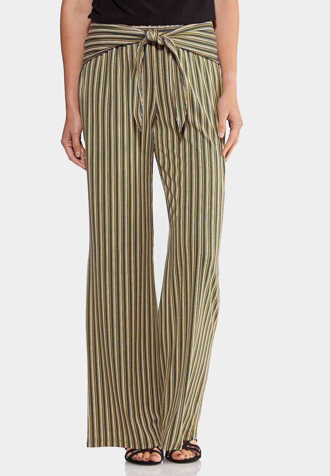 Petite Wrap Front Wide Leg Pants