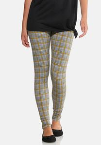 Yellow Plaid Leggings