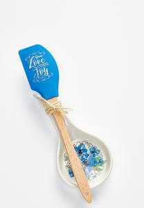 Philippians Spoon Rest And Spatula