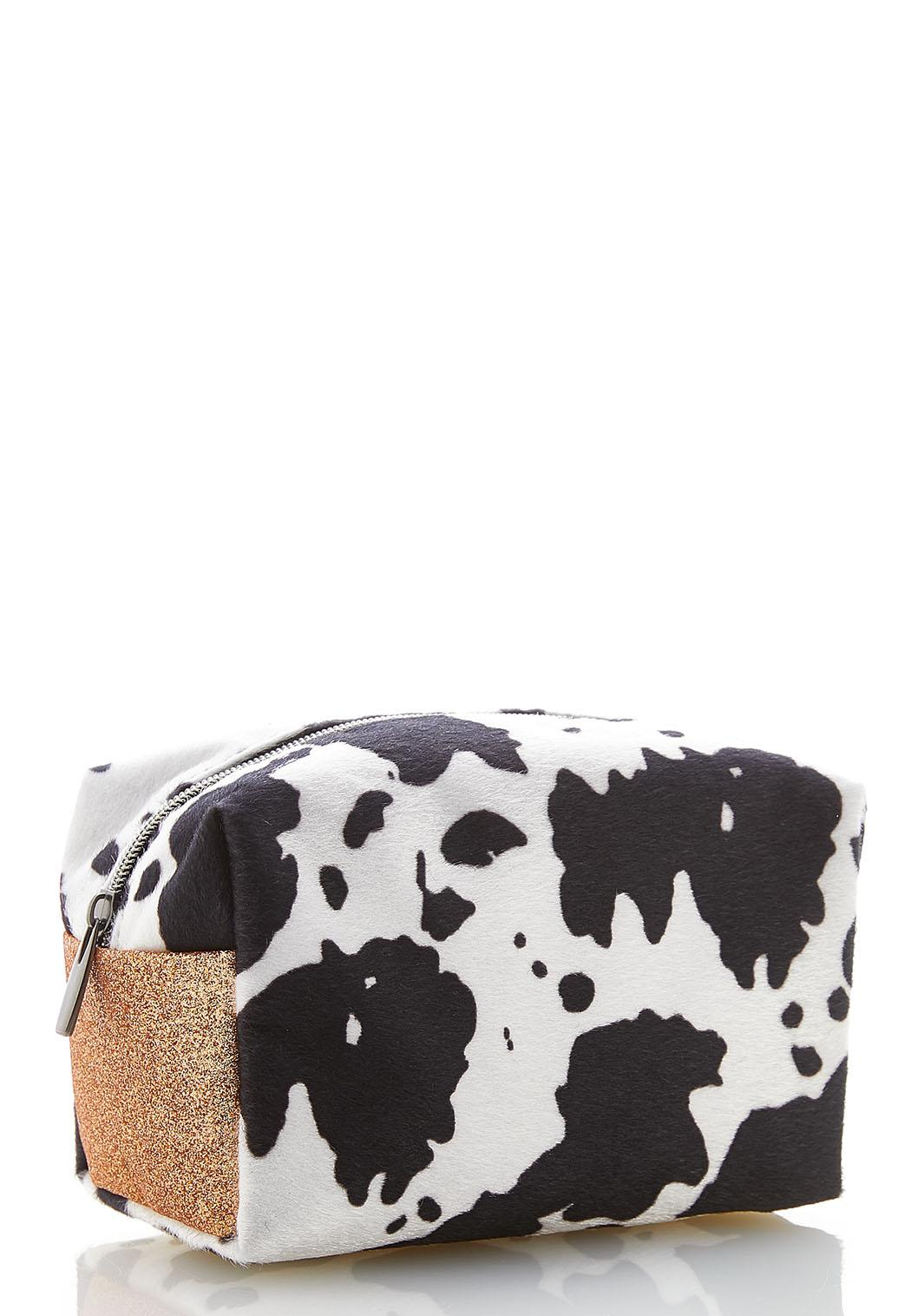 Cow Print Faux Fur Bag