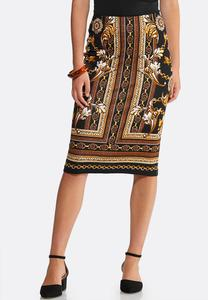 Plus Size Status Pencil Skirt