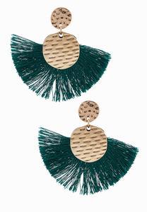 Hammered Metal Fringe Earrings