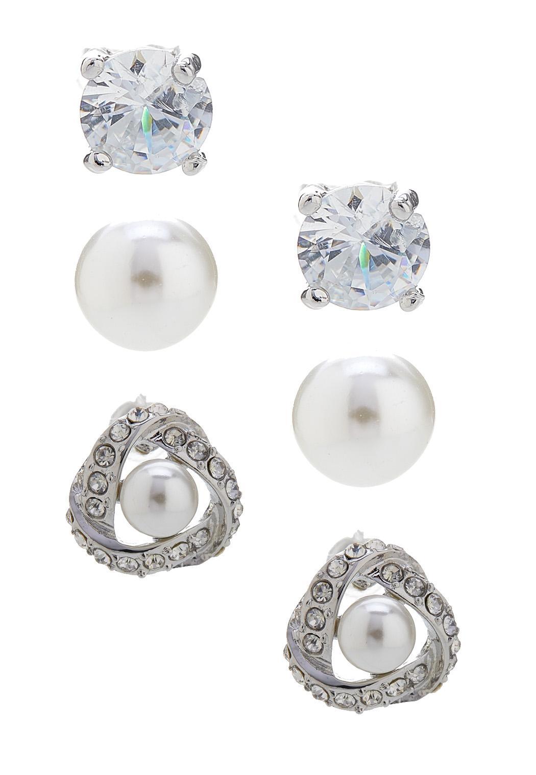 Elegant Button Earring Set