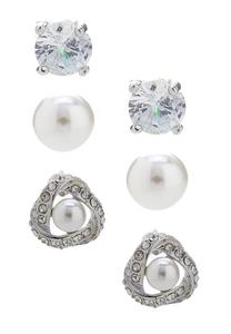 Elegant Button Earring Set