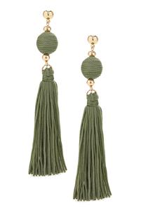 Olive Tassel Earrings