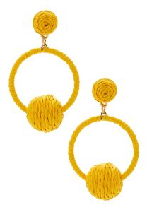 Yelloe Raffia Wrap Earrings
