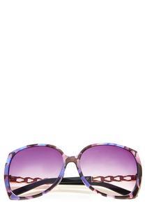 Purple Tortoise Square Sunglasses