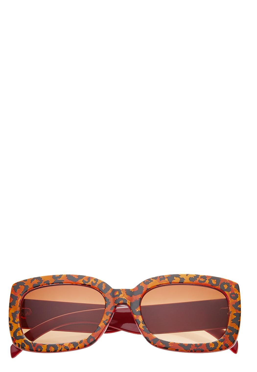 Leopard Square Sunglasses
