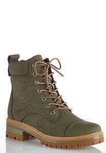 Lace Up Lug Hiker Boots