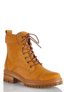 Lace Up Lug Hiker Boots