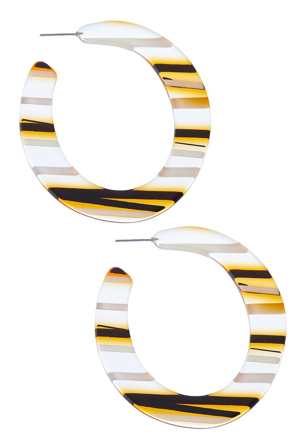 Golden Stripe Hoop Earrings