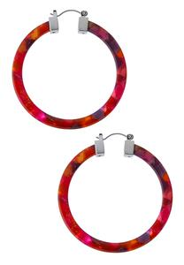 Marbled Resin Hoop Earrings