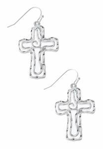 Cutout Cross Dangle Earrings