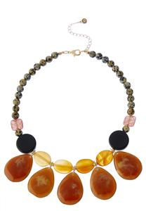 Tear Stone Bib Necklace