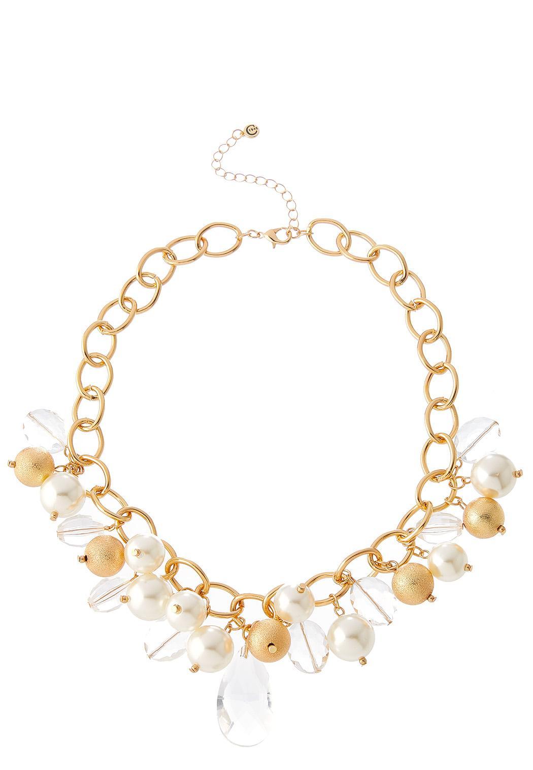 Gold And Ivory Charm Bracelet