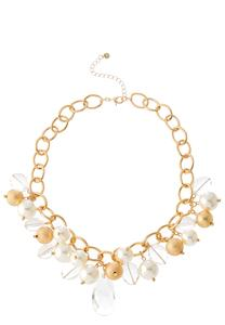 Gold And Ivory Charm Bracelet