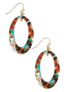 Multi Marbled Lucite Earrings