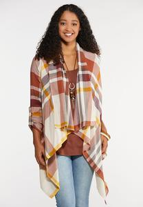Plus Size Autumn Waterfall Jacket