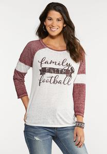 Plus Size Family Faith Football Tee