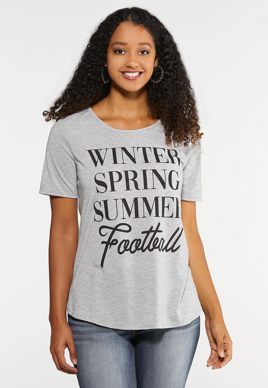 Plus Size Football Season Tee