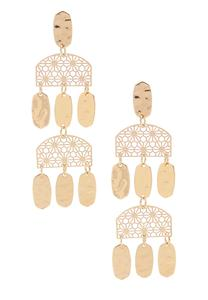 Shaky Filigree Chandelier Earrings