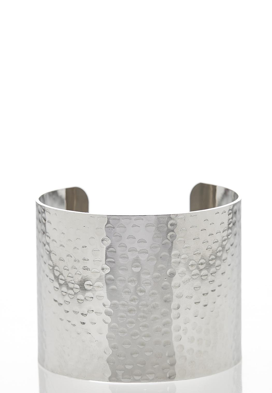 Wide Metal Cuff Bracelet