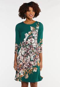 Plus Size Floral Swing Dress