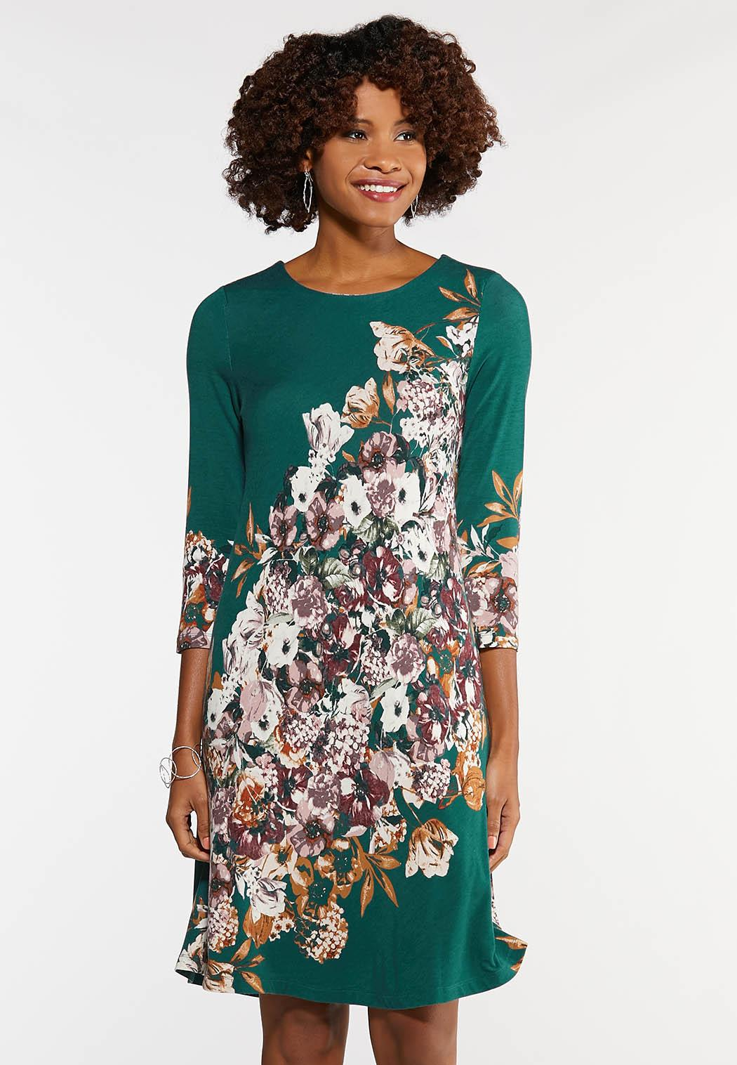 Plus Size Floral Swing Dress A- Line & Amp ; Swing Cato Fashions