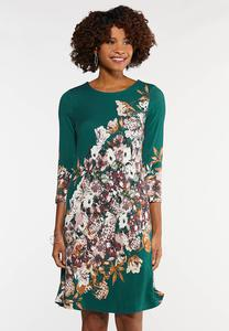 Plus Size Floral Swing Dress