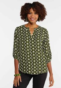 Plus Size Geo Tunic Top