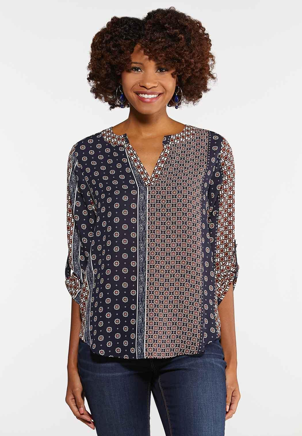 Plus Size Medallion Tunic Top