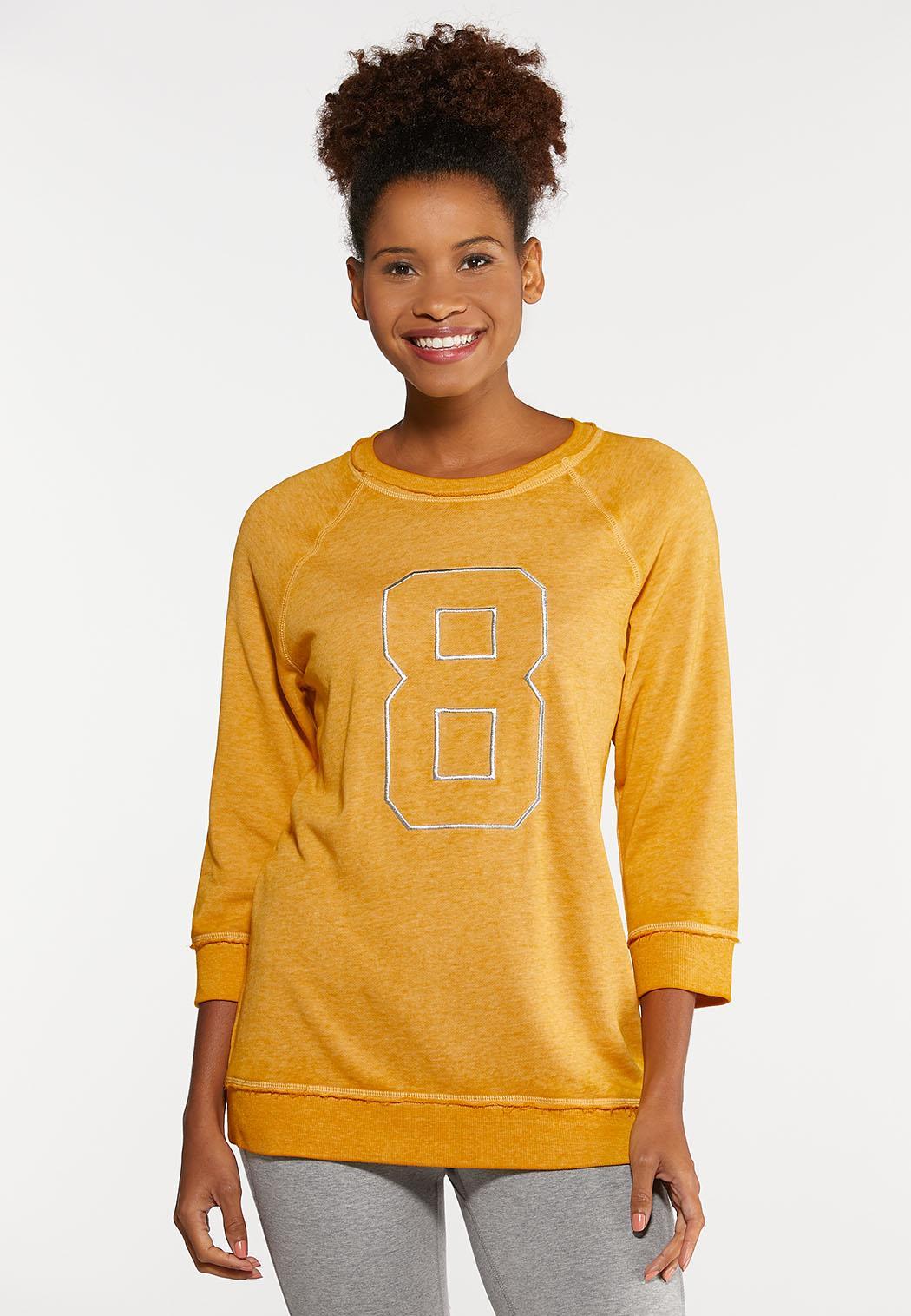Plus Size Embroidered Active Sweatshirt