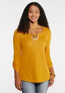 Plus Size Square Neck Knit Top