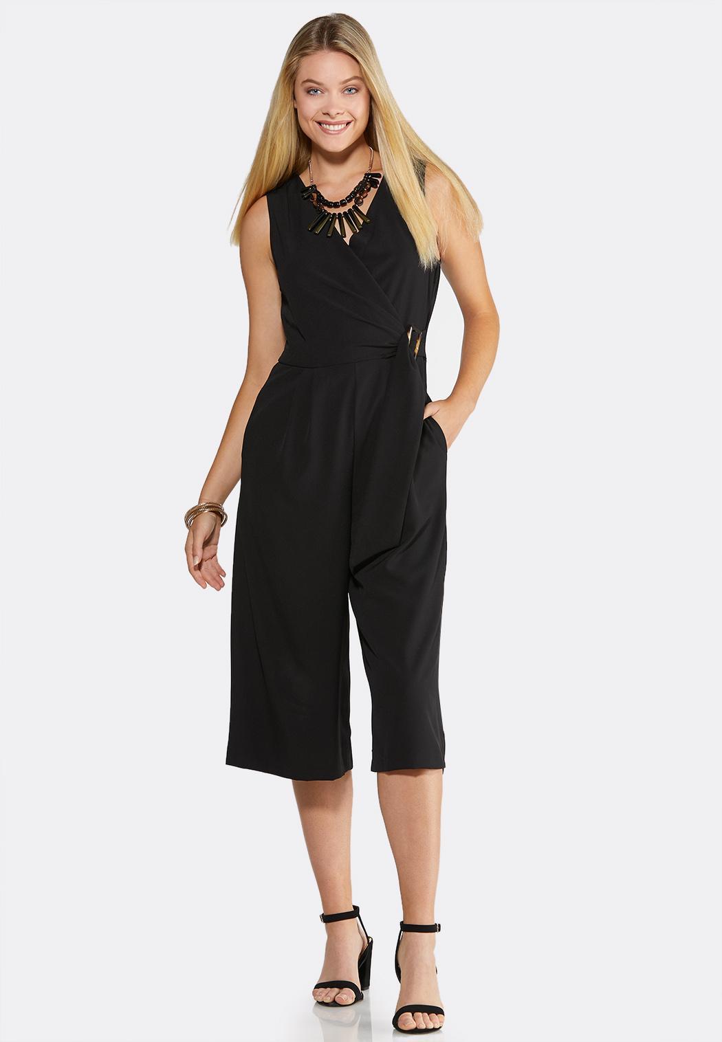 Plus Size Faux Wrap Jumpsuit Jumpsuits Cato Fashions