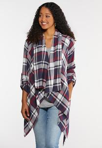 Plus Size Navy Plaid Jacket