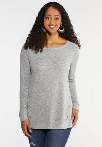 Elbow Patch Button Top