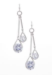 Dangling Tear Stone Earrings