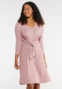 Tie Front Swing Dress