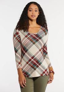 Plus Size Fall Plaid Top