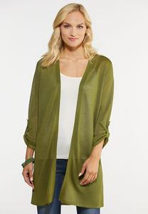 Plus Size Sheer Cardigan Sweater