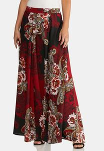 Floral Paisley Maxi Skirt
