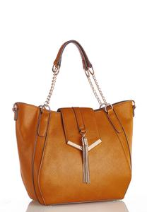 Metal Tassel Golden Satchel